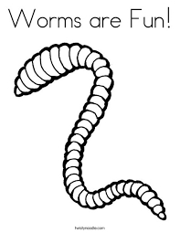 This clipart image is transparent backgroud and png format. Worms Are Fun Coloring Page Twisty Noodle