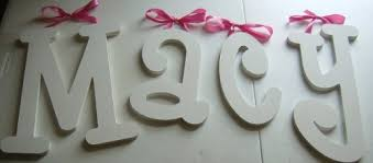 macy baby nursery letters wall art simple pink ribbon white sample solid prodigious toppers cake