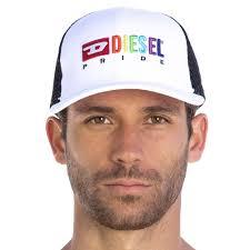 Diesel Hat Size Chart Rainbow Cap White