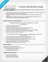 Security Guard Resume Mesmerizing Security Guard Resume Sample Security Guard Resume Sample Writing