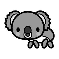 かわいいガーンと困っているコアラの無料イラスト商用フリー オイデ43