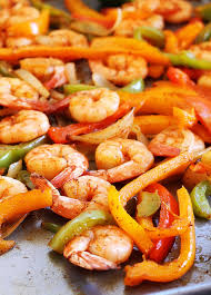 sheet pan shrimp fajitas sheet pan shrimp fajitas life in the lofthouse