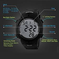 mens military digital sport watch waterproof outdoor electronic previous · next