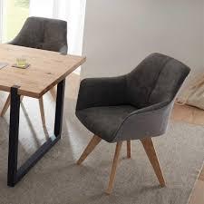 Esszimmer Sessel Stuhl In Grau Baranoma 2er Set