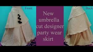 Ladies Designer Umbrella New Designer Party Wear Umbrella Cut Skirt Full Tutorial 1 Stitching Ladies