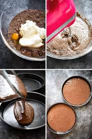 In a large bowl, add cake mix, eggs, water, and mayonnaise. Double Chocolate Layer Cake Chocolate Mayonnaise Cake Stress Baking