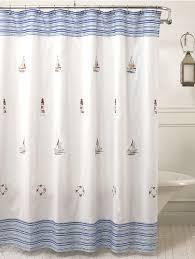 annapolis embroidered nautical fabric shower curtain curtain bath