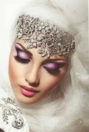 arabic bride in purple eye mkup