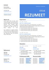 Peckham Free Resume / Cv Template - Rezumeet.com