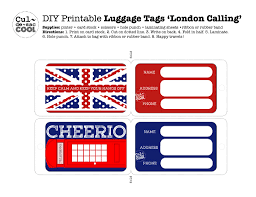 Printable Luggage Tags Diy Printable Luggage Tags London Calling