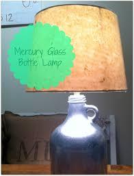 diy mercury glass bottle lamp