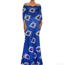 2017 African One Word Dresses For Women Printing Dashiki Dress Robe