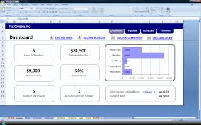 Free Excel 2010 Dashboard Templates Crm On Excel V2 2