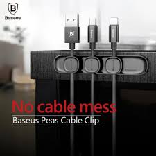 <b>Baseus Peas Cable Clip</b> Magnetic Cable Clip Wire Organizer ...
