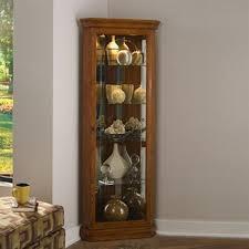 corner curio cabinets corner display cabinet with glass doors pulaski 20852 corner curio cabinet