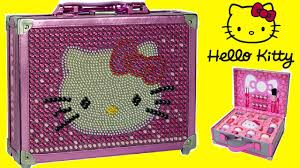 o kitty special edition cosmetic case makeup box for kids unboxing you