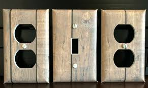 3 Light Switch Cover Plate Barnwood Planks Set Of 3 Light Switch Cover Plate Outlet Vintage Country Looking