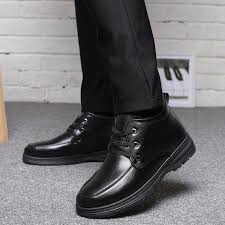 men s winter shoes warm comfortable leather snow boots men waterproof boots brand plush warm mens dress boots for men 2019