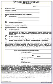Free Subcontractor Lien Waiver Form Texas Subcontractor Lien Waiver Form Form Resume Examples