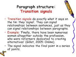 Transition Essay Examples Essay Transition List