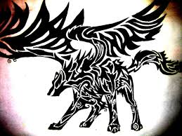 tribal wolf with wings drawing. Fine Wings Tribal Wolf By SashaDavy  To Tribal Wolf With Wings Drawing I