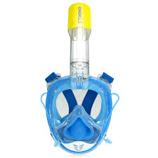 tomshoo 180 panoramic full face snorkel mask us 39 99 s blue tomtop