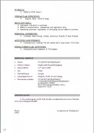 100 Resume Format For Freshers Engineers Resume Samples For