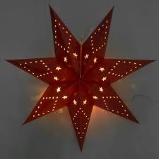 Led Papierstern 45cm Faltbar Weihnachtsstern Adventstern Leuchtstern Fensterdeko