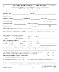 Fall Incident Report Example Hospital Incident Report