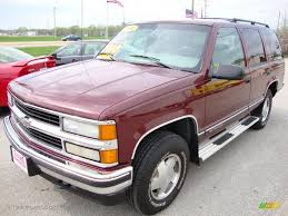 1998 Dark Carmine Red Metallic Chevrolet Tahoe LT 4x4 #28723761 ...