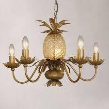 Pineapple Mini Pendant Light Havana Gold Pineapple 5 Light Ceiling Fitting Dunelm