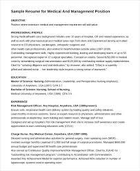 Medical & Management Position Nurse Resume