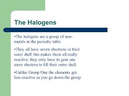 The Halogens - Presentation Chemistry - SliderBase