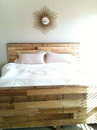So, we made our bed out of pallets.