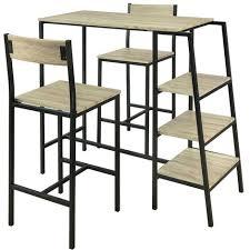 Set de 1 Table + 2 Chaises Ensemble Table de Bar Bistrot + 2 ...