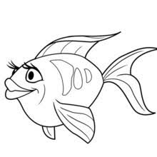 fish drawing for colouring. Modren Drawing LOVELY FISH Of OCEANA Printable  Throughout Fish Drawing For Colouring O