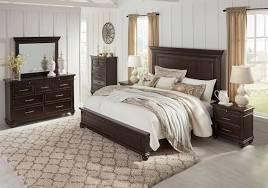 brynhurst dark brown king panel bedroom