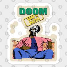 married with doom doom sticker