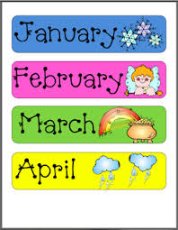 Printable Months Of Year For At Home Classroom Preschool
