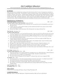 Accounts Payable Resume Template Jospar