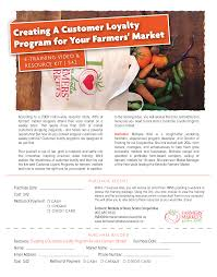 creating a customer loyalty program for your farmers market e training toolkit