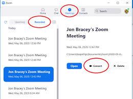 converting local recordings zoom