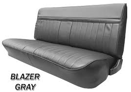 1981 87 fullsize chevy gmc truck front vinyl bench seat cover with horizontal