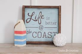 create and easy diy wood sign with your silhouette cameo coastal decor