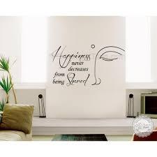 buddha inspirational wall sticker e happiness never decrease home wall art decor decal