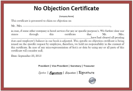 no objection letter sample for job sample no objection letter letter format for changing job and free