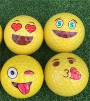 whole funny golf gifts golf ball emoji funny cute accessory gift rubber surlyn