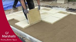 how to install concrete flag block paving flexibly commercial paving marshalls you
