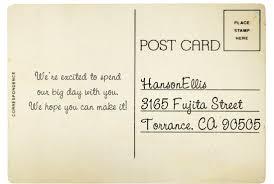 Personalized Wood Save The Date Wedding Postcard Hansonellis Com