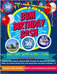 Bvm Birthday Flier